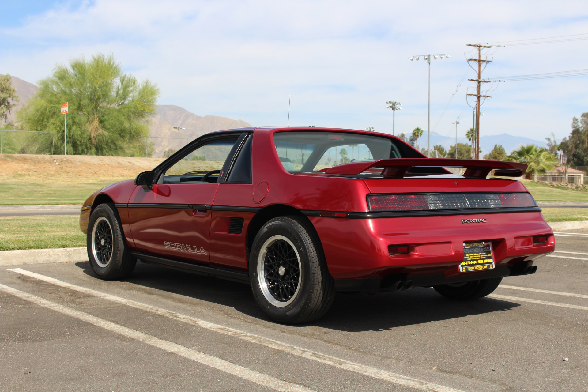 1988 Pontiac Fiero Formula Five Speed Stock Pn34 For Sale Near Palm Springs Ca Ca Pontiac Dealer